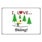 I Love Skiing Banner