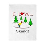 I Love Skiing Twin Duvet