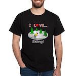 I Love Skiing Dark T-Shirt