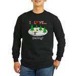 I Love Skiing Long Sleeve Dark T-Shirt