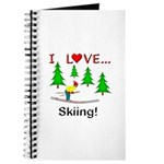 I Love Skiing Journal