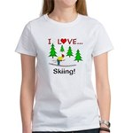 I Love Skiing Women's T-Shirt