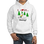 I Love Skiing Hooded Sweatshirt