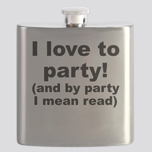 I Love To Party (And By Party I Mean Read) Flask