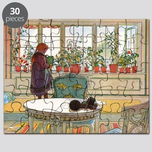Flowers on the Windowsill by Carl Larsson Puzzle