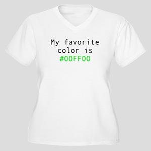 My Favorite Color Is 00FF00 Plus Size T-Shirt