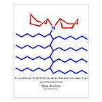 Sea Amine Small Poster