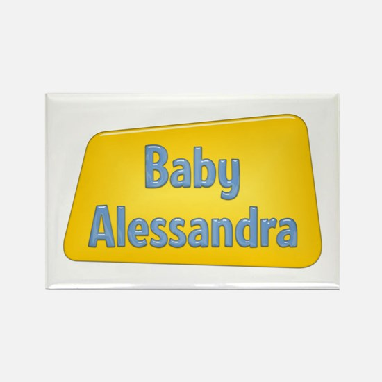Baby Alessandra Rectangle Magnet