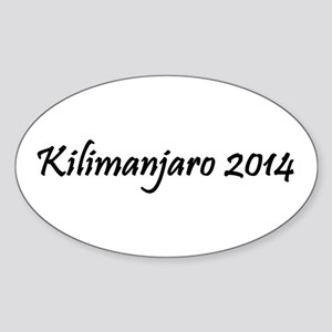 Kilimanjaro 2014 Sticker (Oval)
