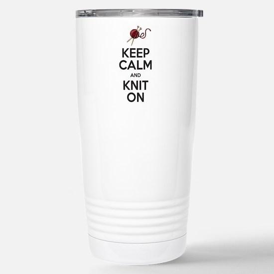 Knit On Travel Mug