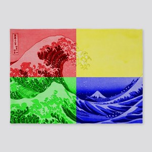 The Great Wave off Kanagawa (?????? 5'x7'Area Rug