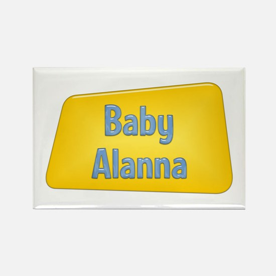 Baby Alanna Rectangle Magnet