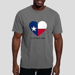 Custom Texas flag Heart Mens Comfort Colors Shirt
