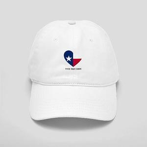 Custom Texas flag Heart Cap