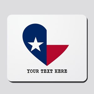 Custom Texas flag Heart Mousepad