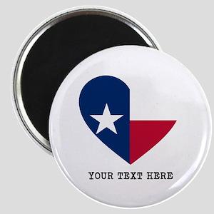 Custom Texas flag Heart Magnet