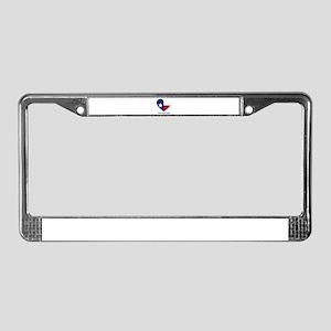 Custom Texas flag Heart License Plate Frame