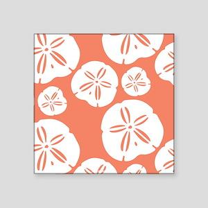 Sandollar Beach Summer Coral Orange Sticker