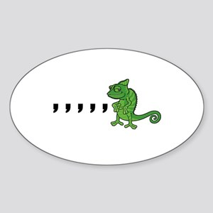 Comma Chameleon Sticker