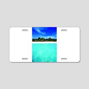 Island from the sea Aluminum License Plate