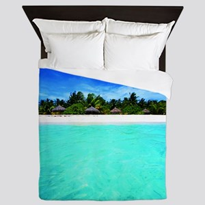 Island from the sea Queen Duvet
