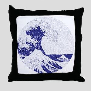 The Great Wave off Kanagawa (??????) Throw Pillow