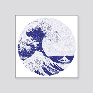 "The Great Wave off Kanagawa Square Sticker 3"" x 3"""