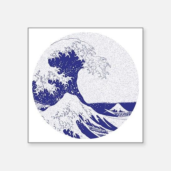"The Great Wave off Kanagawa Square Sticker 3"" x 3"""