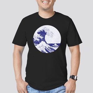 The Great Wave off Kan Men's Fitted T-Shirt (dark)