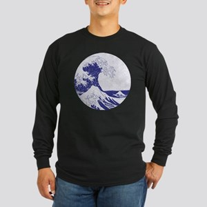 The Great Wave off Kanaga Long Sleeve Dark T-Shirt