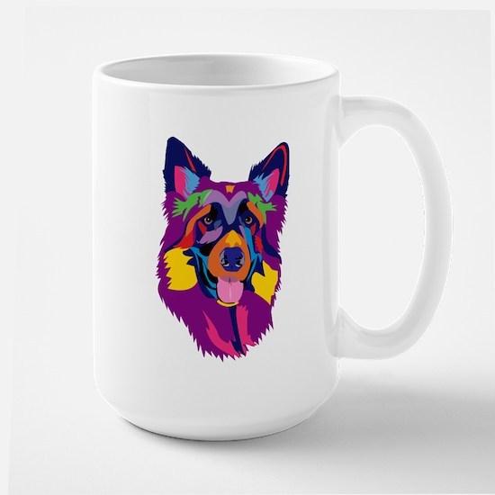 Rainbow Purple Shepherd Mugs