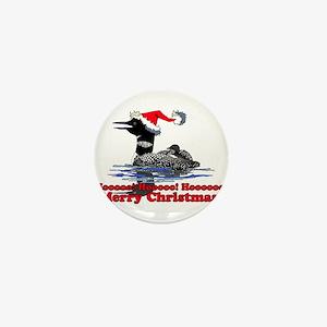 Christmas Loon Mini Button