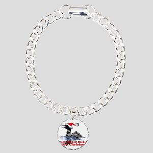 Christmas Loon Charm Bracelet, One Charm