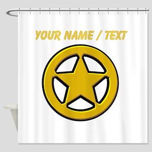 Sherriff Badge Shower Curtain