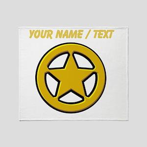 Sherriff Badge Throw Blanket