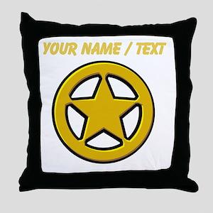 Sherriff Badge Throw Pillow