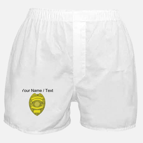 Police Badge Boxer Shorts