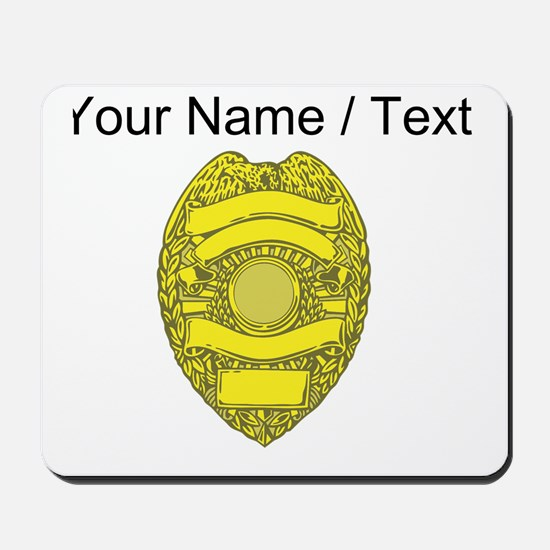 Police Badge Mousepad