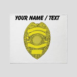 Police Badge Throw Blanket