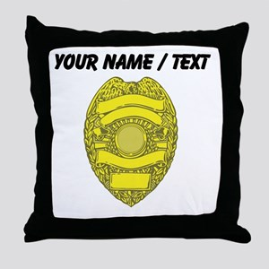 Police Badge Throw Pillow