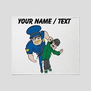 Policeman Arresting Criminal Throw Blanket
