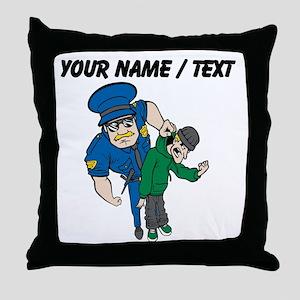 Policeman Arresting Criminal Throw Pillow