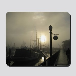 Santa Barbara Misty Morning at the Pier Mousepad