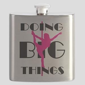 Doing BIG Things Pink Flask