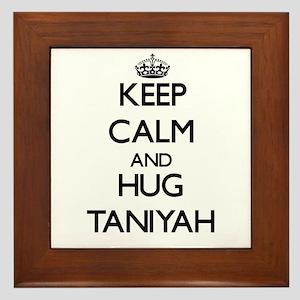 Keep Calm and HUG Taniyah Framed Tile