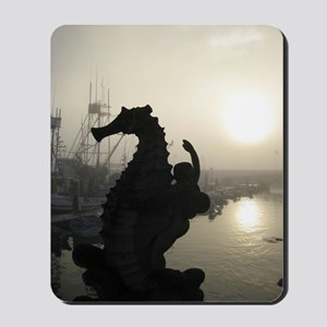 Santa Barbara Seahorse at the Pier on a  Mousepad