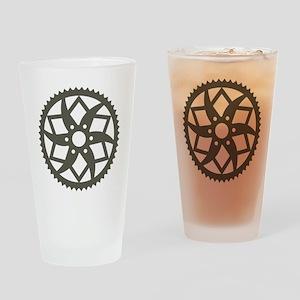 Bike chainring Drinking Glass