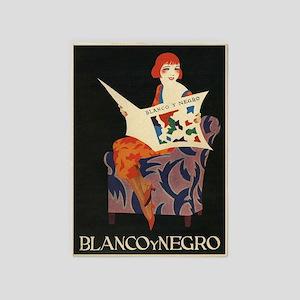 Blanco Y Negro, Vintage Poster 5'X7'area Rug