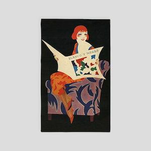 Blanco Y Flapper, Vintage Poster 3'x5' Area Rug