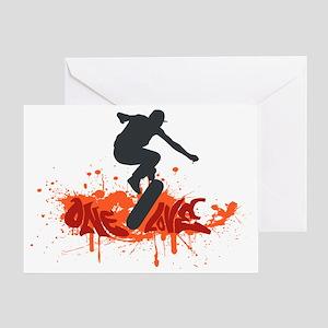 One love skateboarding Greeting Card